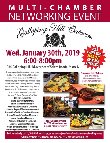 01/30/2019 – Multi-Chamber Networking Event – Galloping Hill Caterers