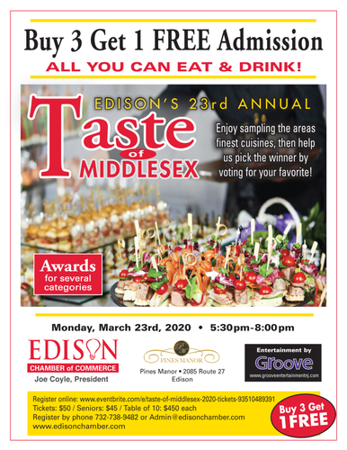 03/23/2020 – 2020 Taste of Middlesex – POSTPONED